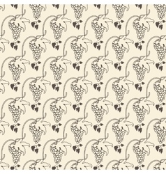 Grapes seamless pattern for wine background vector