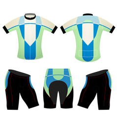 Green blue cycling vest design vector