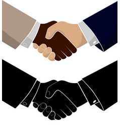 handshake of two business men conclusion of the vector image