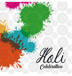 holi celebration design vector image