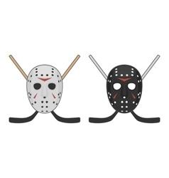 Horror hockey mask for halloween vector