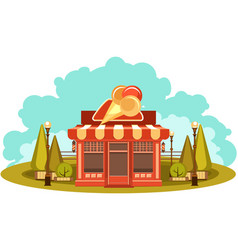 Ice cream store vector