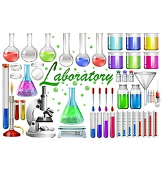 Laboratory tools and equipments vector image