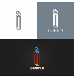letter I logo alphabet design icon set background vector image vector image