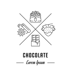 Line Banner Chocolate vector image