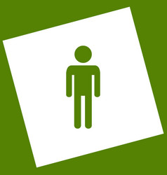 Man sign white icon obtained vector
