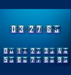 mechanical time timer set of digits vector image
