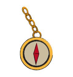 navigation compass icon destination travel vector image vector image
