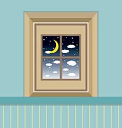 Night Sky View Through The Window vector image