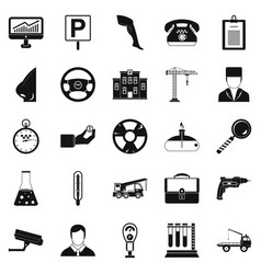 personnel icons set simple style vector image vector image