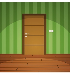 Room With Door - Green vector image vector image