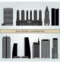 Sao Paulo V2 landmarks and monuments vector image