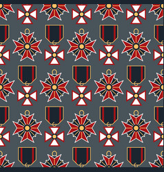 seamless pattern with medals vector image