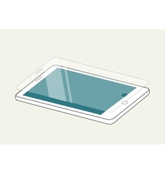 Smartphone display with protector glass or film vector