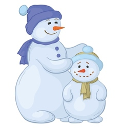 snowmens mother and son vector image vector image