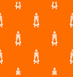 space shuttle pattern seamless vector image