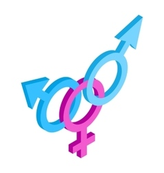 Transgender sign isometric 3d icon vector
