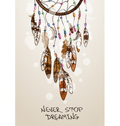 With american indians dreamcatcher vector