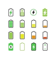Cell phone smartphone electric charge battery vector