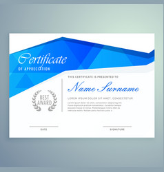 Stylish modern certificate template design with vector