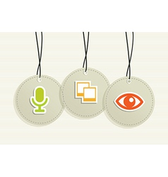 Multimedia hang tags vector