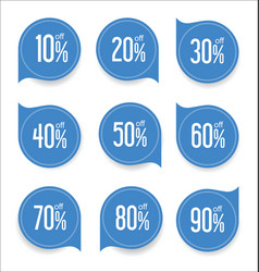 Modern offer sale blue tag isolated vector