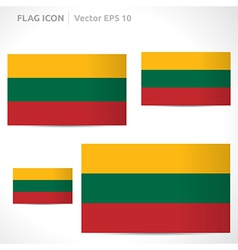 Lithuania flag template vector