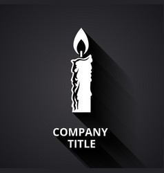Modern candle logo vector image