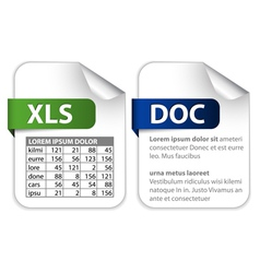 Office file extensions vector