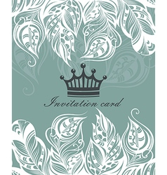 Beautiful floral invitation card vector image