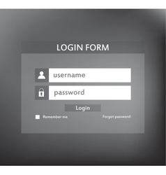 Modern login form for website vector image