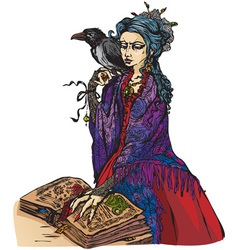 Woman witch vector image