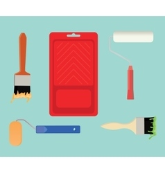Paint tools collection stuff vector