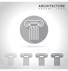 Architecture outline icon vector