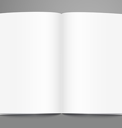 Open book page template Ready for a content vector image