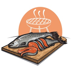 Fresh salmon vector