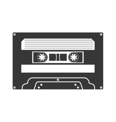 Cassette icon retro technology design vector