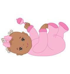 African American Baby Girl vector image