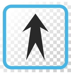 Arrow up icon in a frame vector