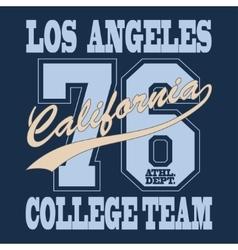 California T-shirt vector image