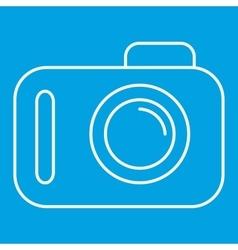 Camera thin line icon vector image