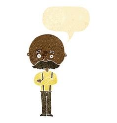 Cartoon grandfather with speech bubble vector