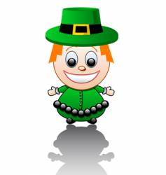 cartoon Irish boy vector image vector image