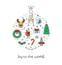 Christmas isolated colored concept with vector image vector image