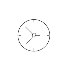 Clock thin line icon time outline vector