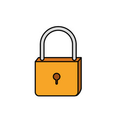 Colorful silhouette of padlock icon vector