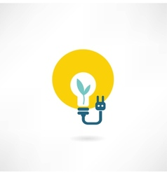 eco light bulb icon vector image vector image