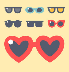 fashion set sunglasses accessory eyeglasses vector image vector image