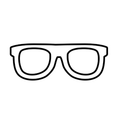 Glasses fashion accesory icon graphic vector