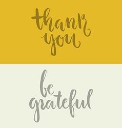 Grateful Lettering vector image